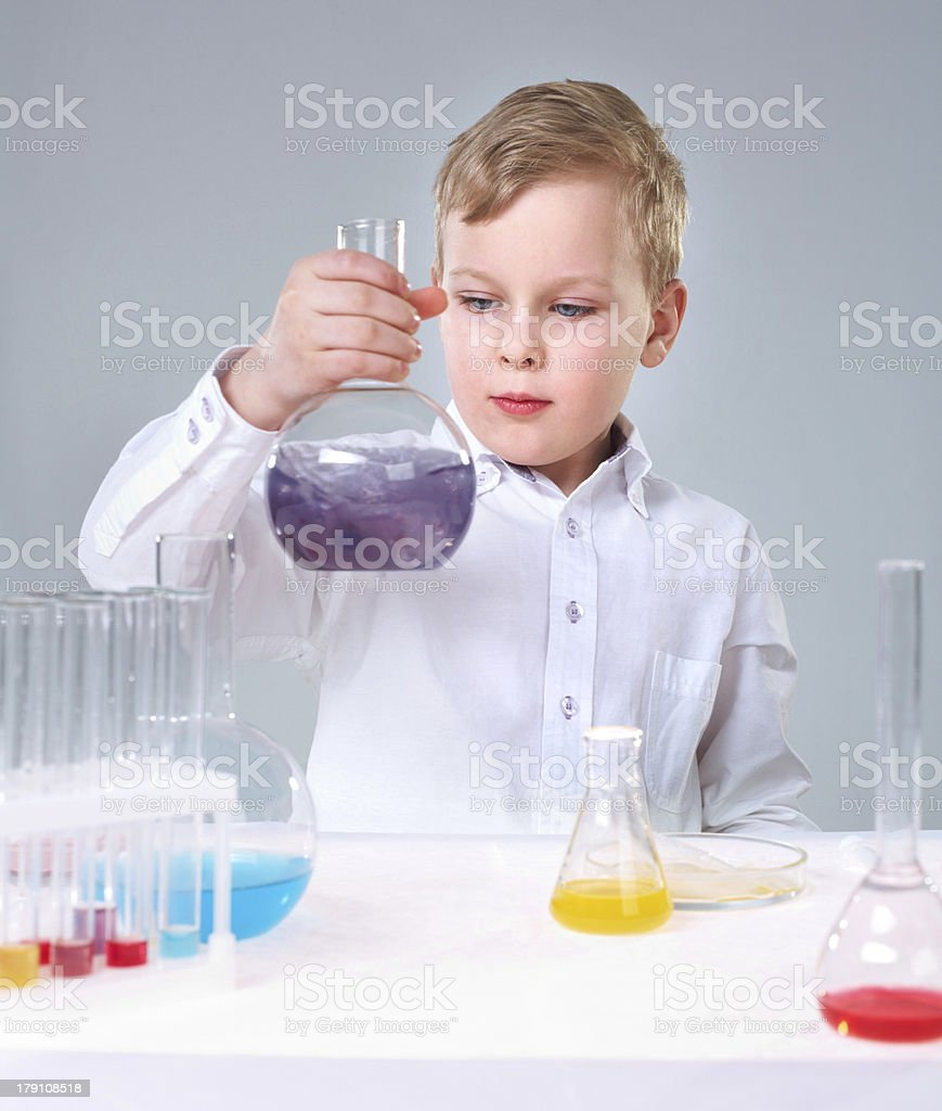 Young experimentalist royalty-free stock photo