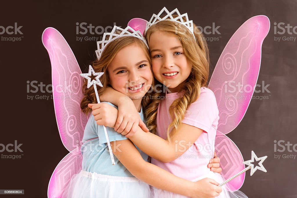 Young fairy queens stock photo