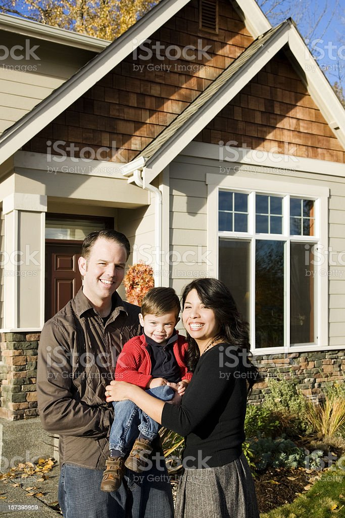 Young Family at Home stock photo