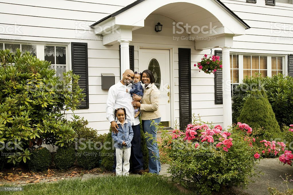 Young Family at Home royalty-free stock photo