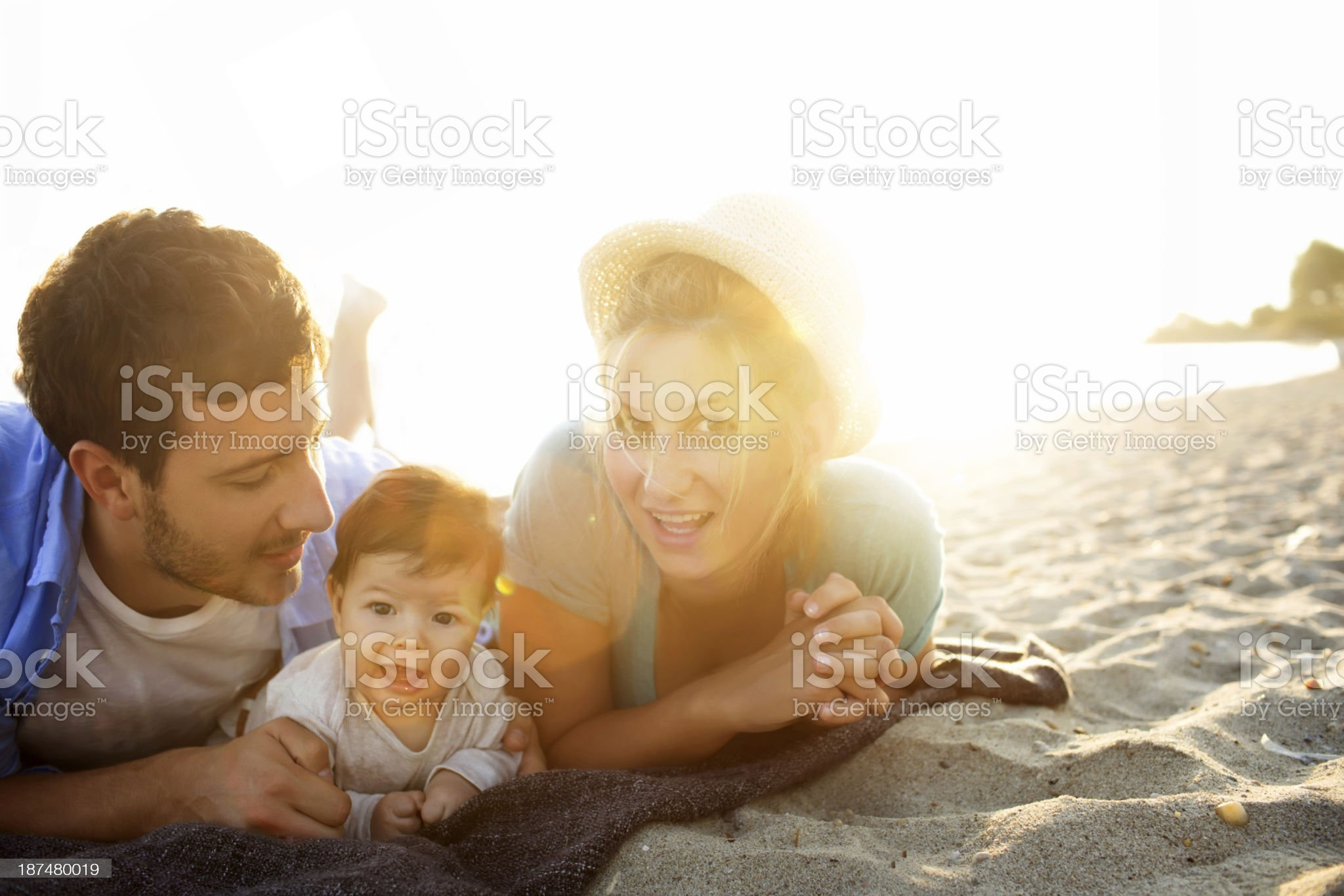 Young family having fun outdoors royalty-free stock photo