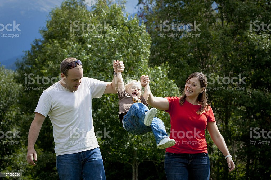 Young family having fun. royalty-free stock photo