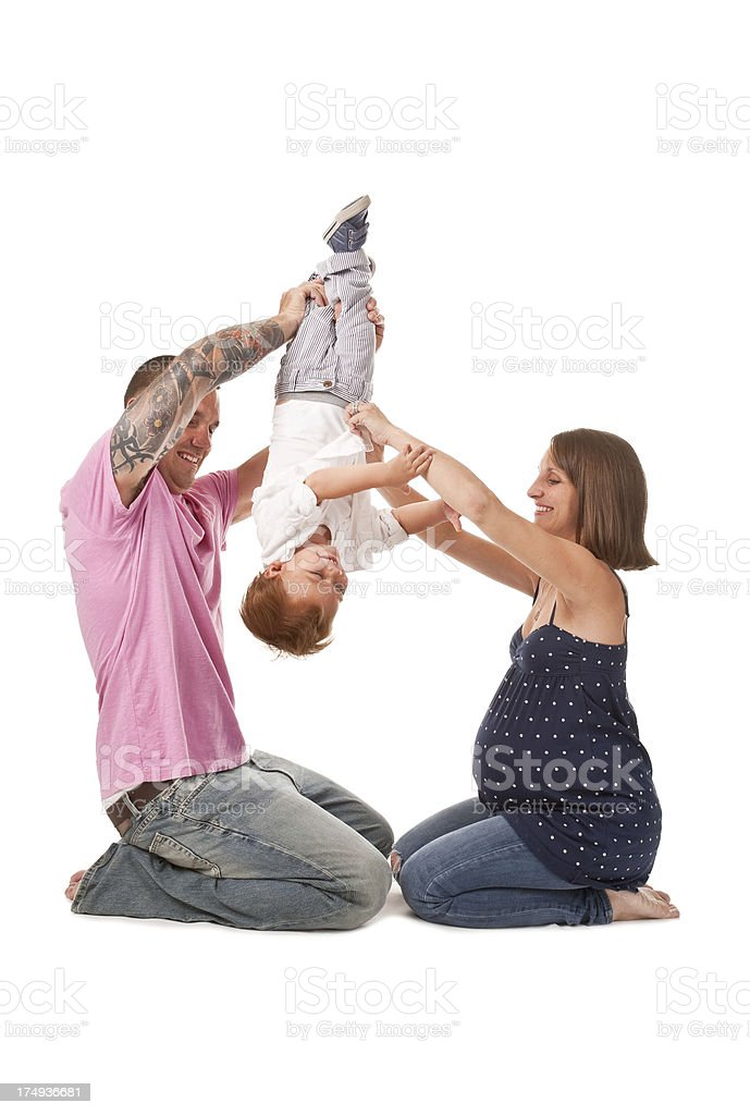Young Family Having Fun With Son royalty-free stock photo