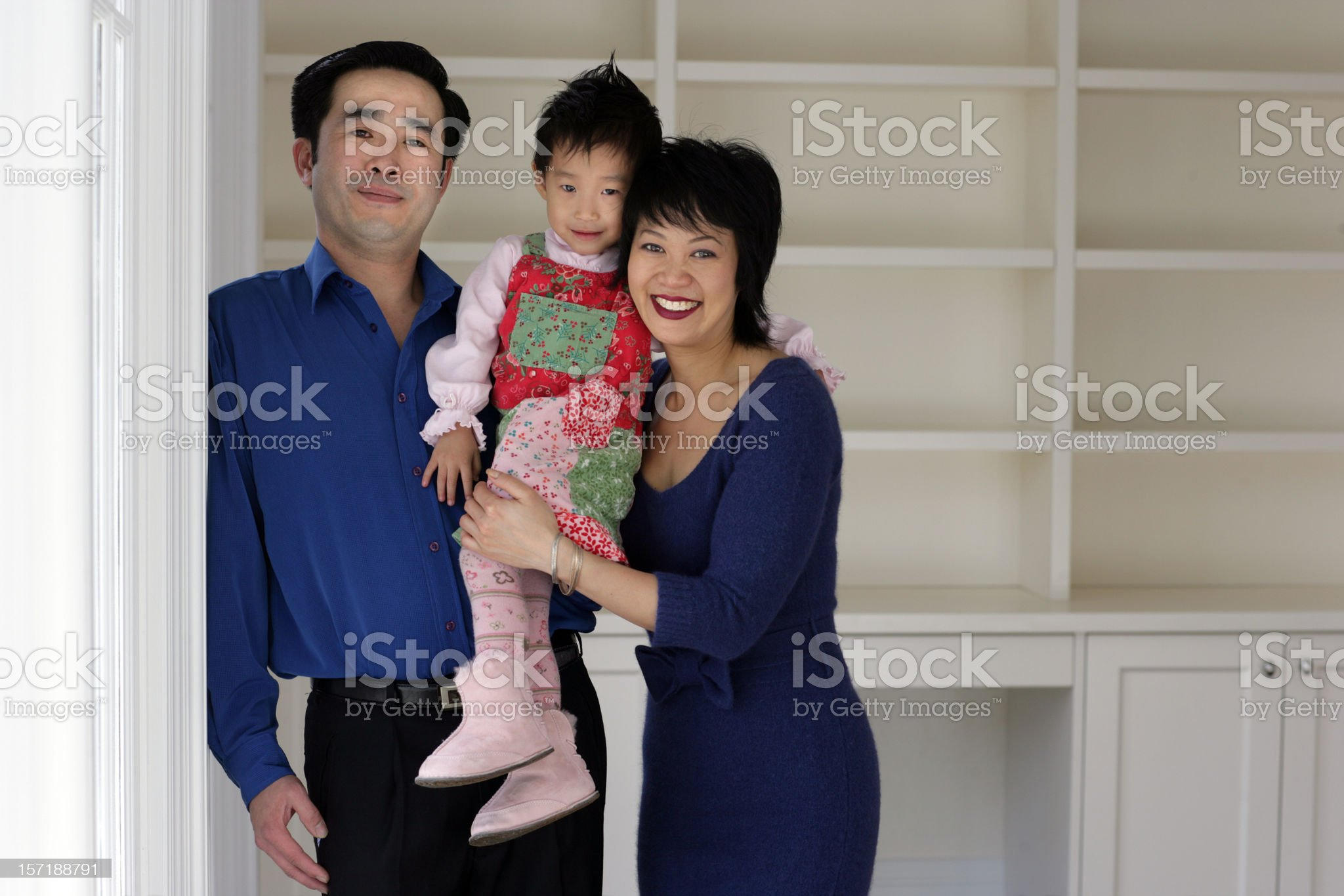 Young Family Moving In royalty-free stock photo