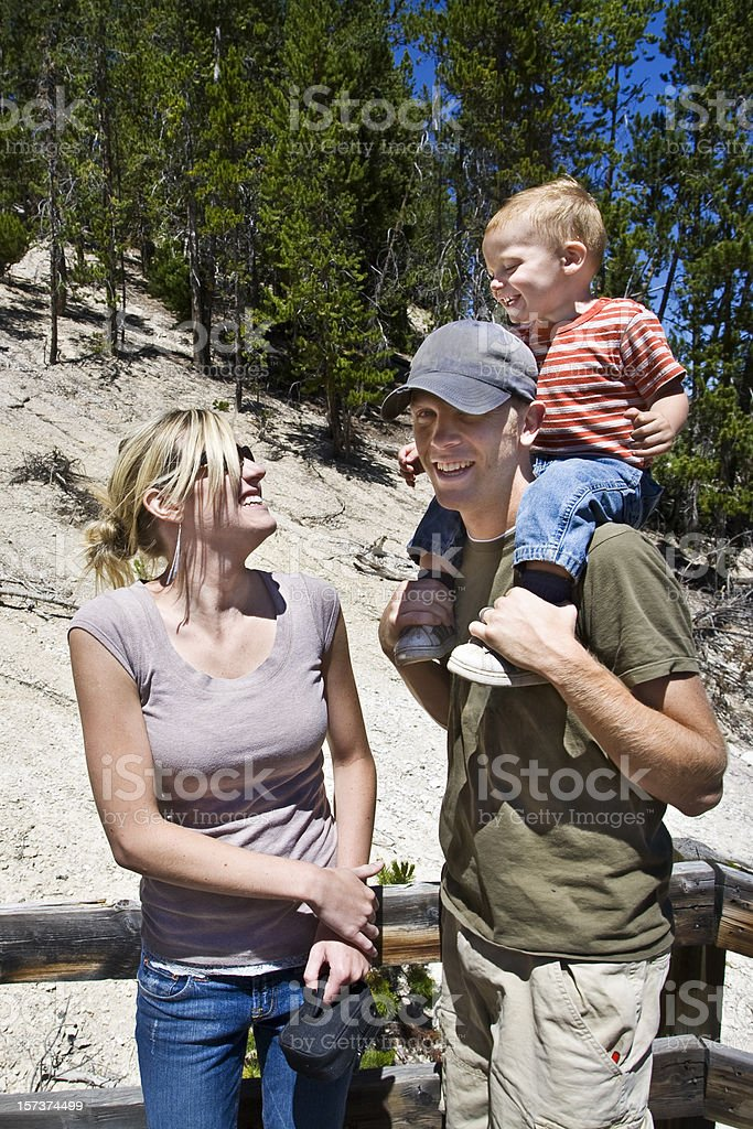 Young Family on Vacations. royalty-free stock photo