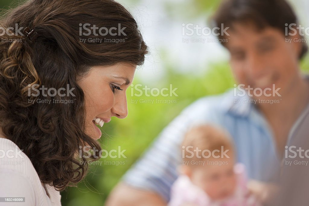 Young Family Outdoors royalty-free stock photo