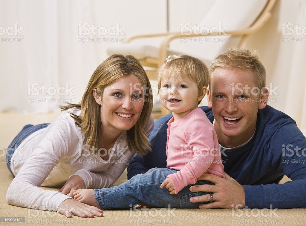 Young Family Smiling royalty-free stock photo