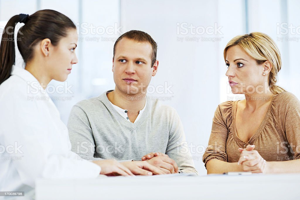 Young family visiting a psychologist royalty-free stock photo