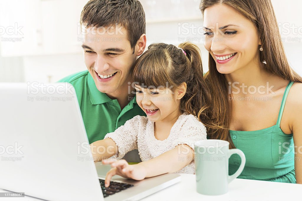 Young family with daughter . royalty-free stock photo