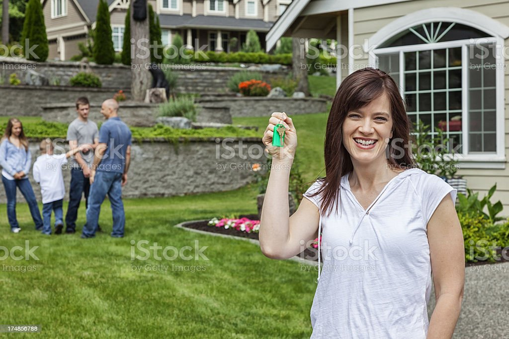Young Family with New Home royalty-free stock photo