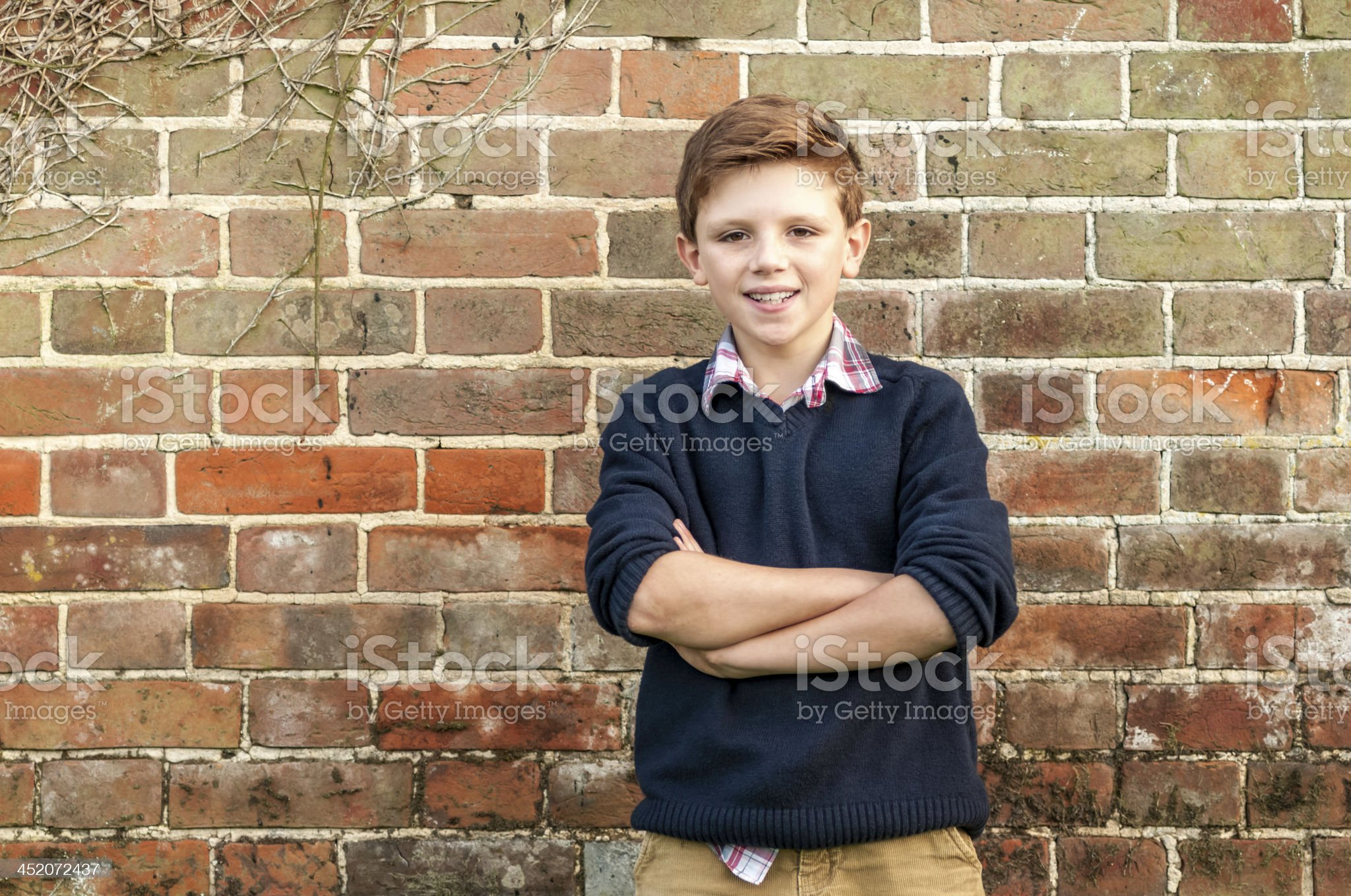 Young farm boy posing - I royalty-free stock photo