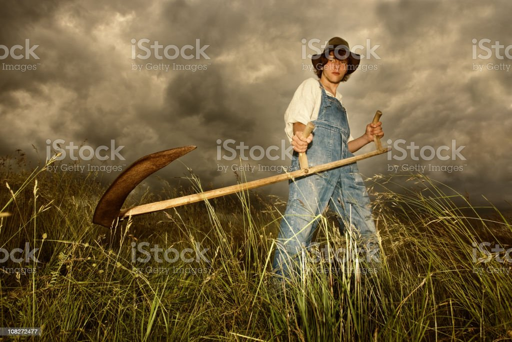 Young Farmer At Work stock photo
