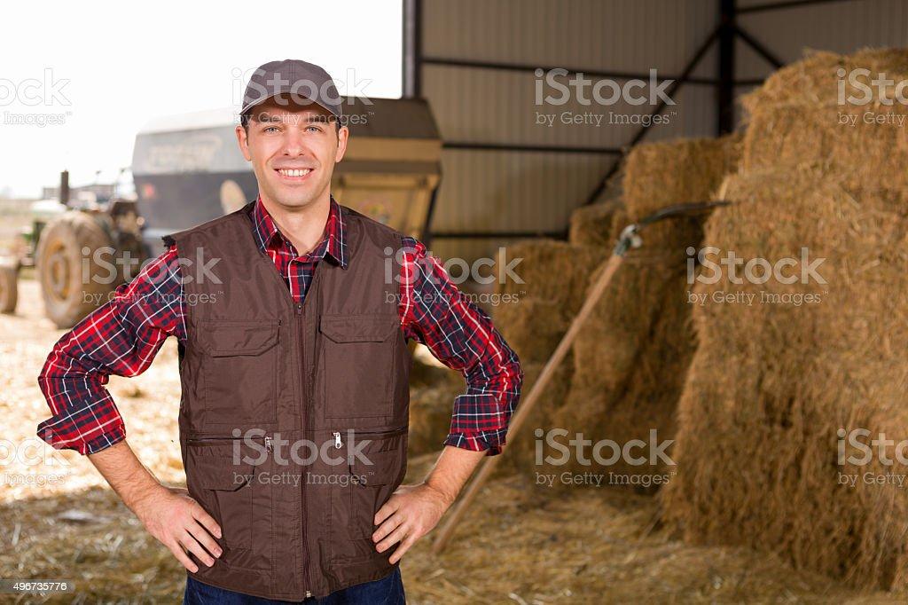 Young farmer stock photo