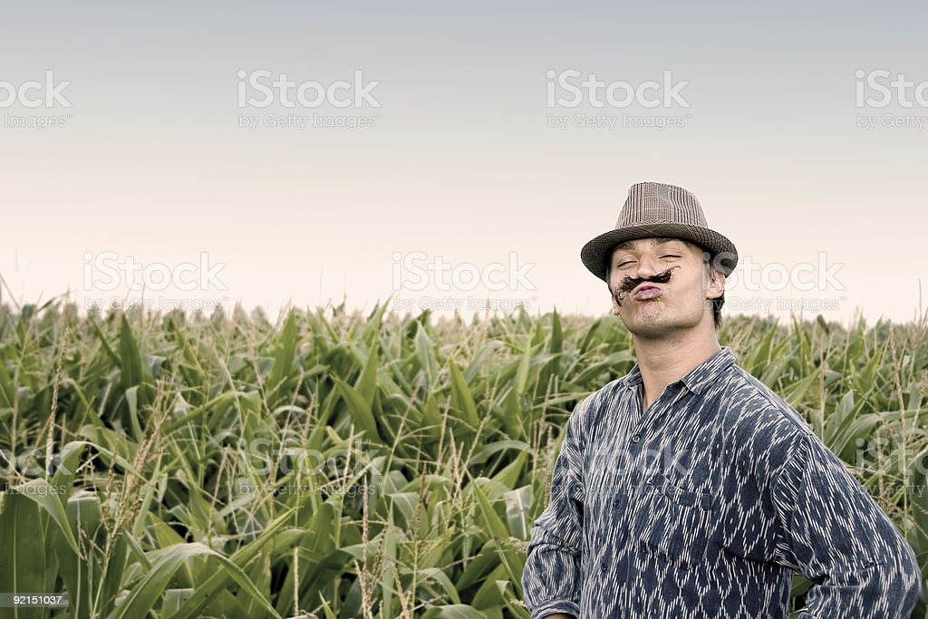 Young Farmer with Attitude | retro style royalty-free stock photo