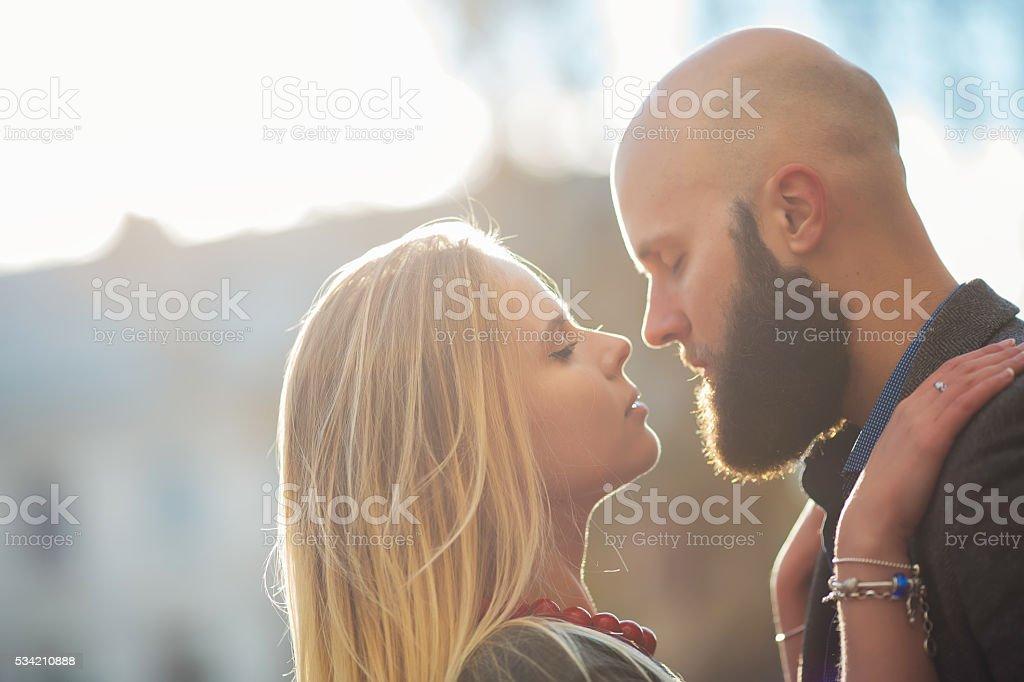 Young fashion elegant stylish couple posing royalty-free stock photo