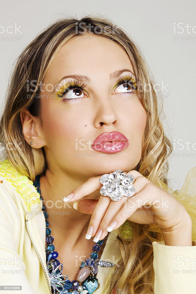 Young fashion model in luxury accessories royalty-free stock photo