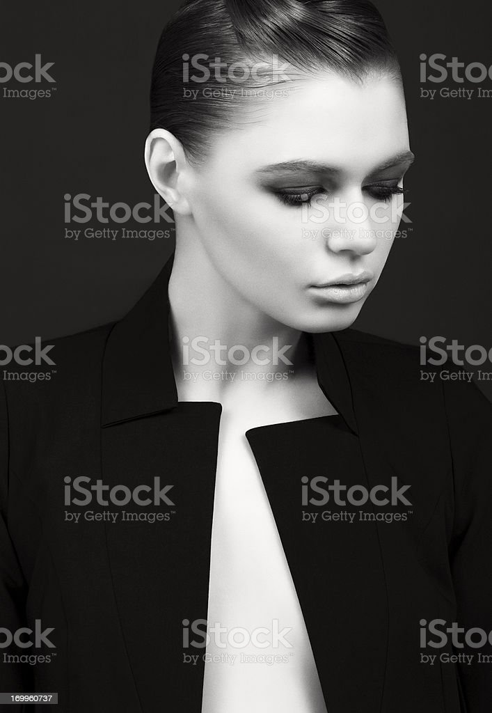 Young fashionable brunet girl royalty-free stock photo