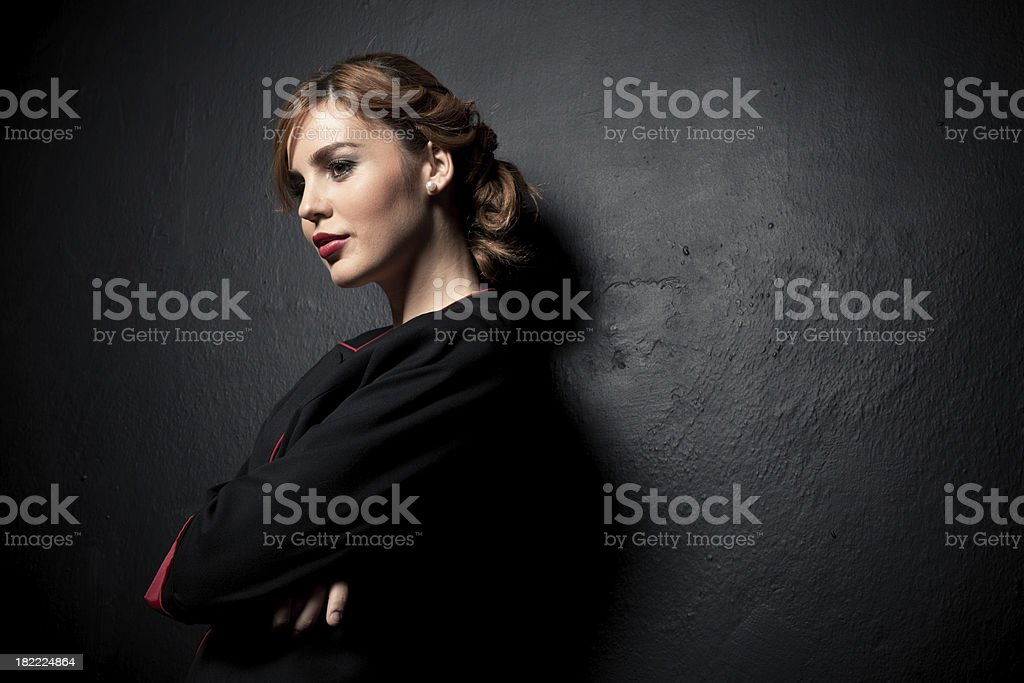 Young fashionable girl. royalty-free stock photo