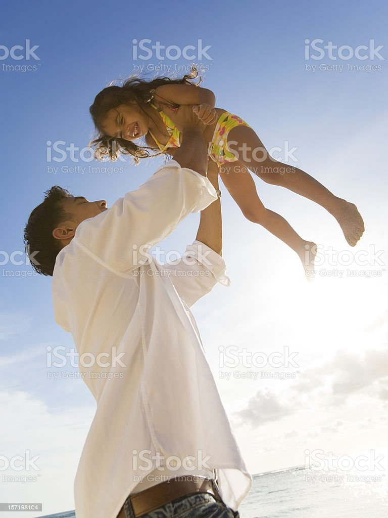 Young Father Plays with his Daughter royalty-free stock photo
