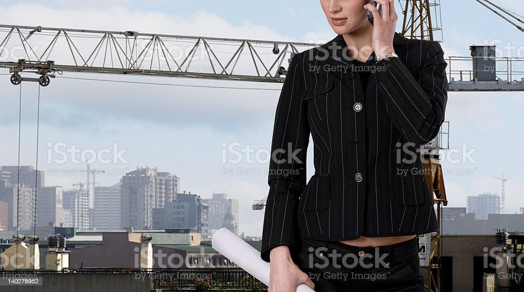 young female architect royalty-free stock photo