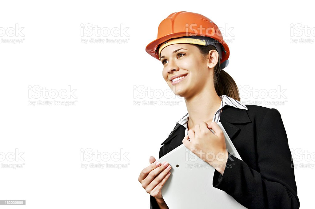 Young female architect royalty-free stock photo