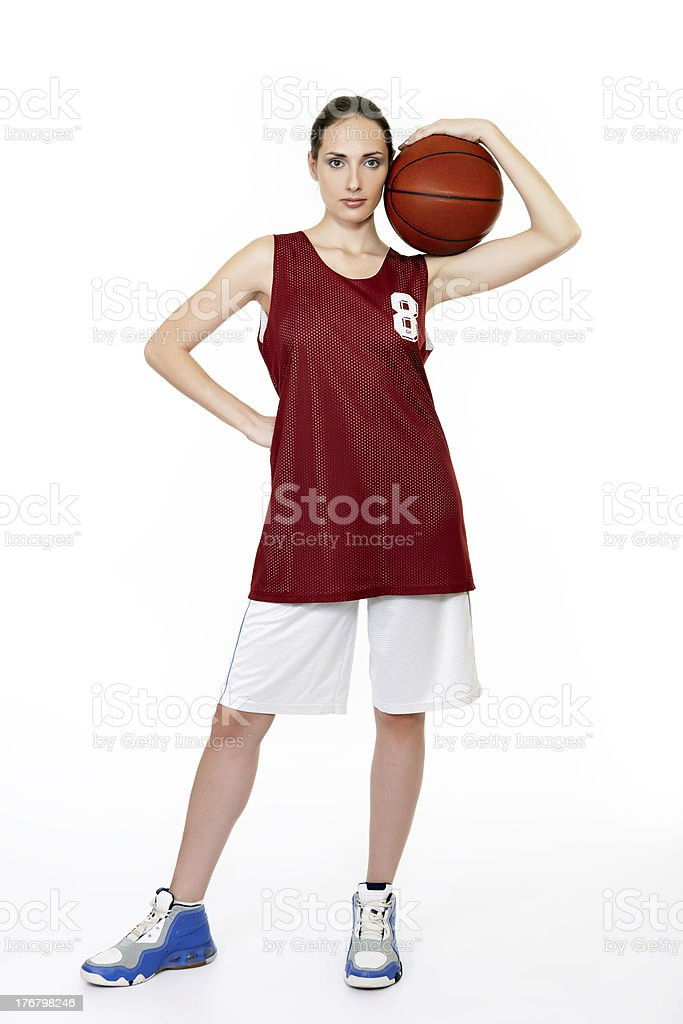 Young female basket ball player royalty-free stock photo