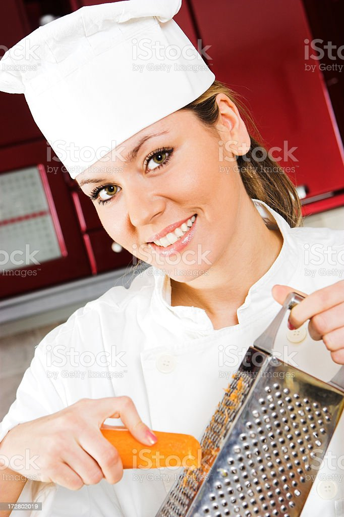 Young female cook royalty-free stock photo