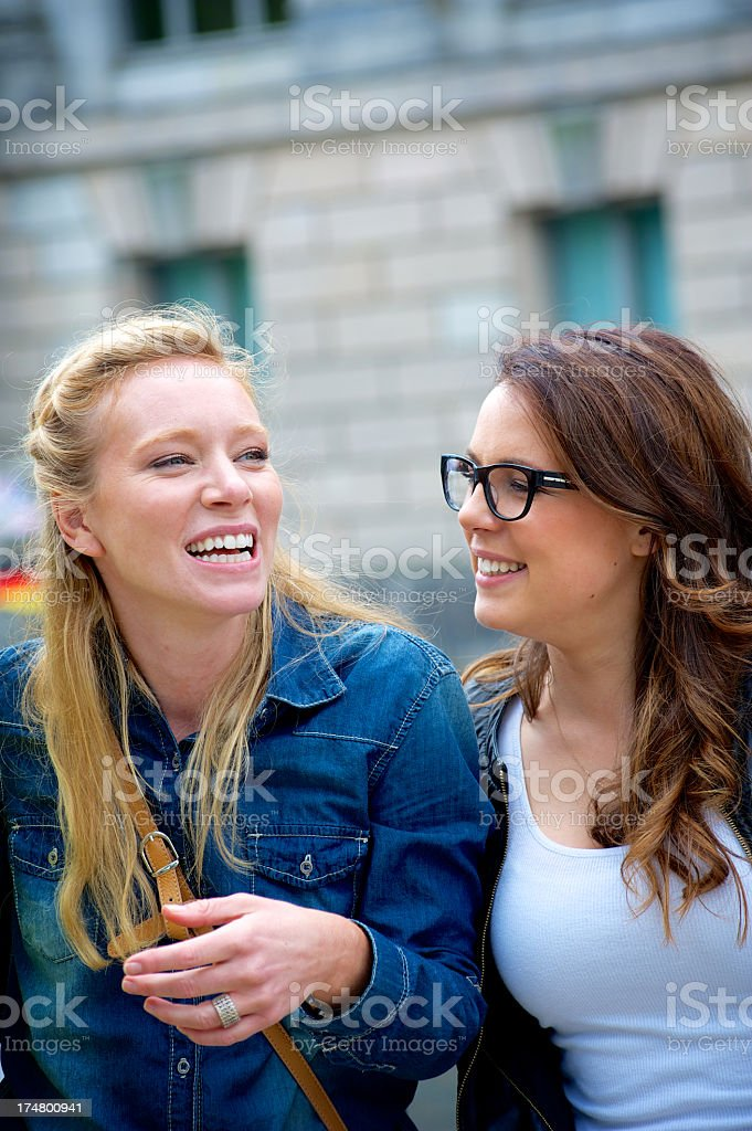 Young female couple stock photo