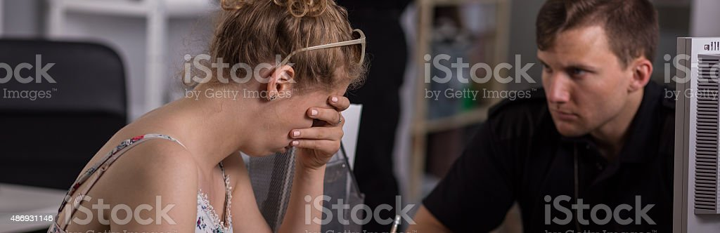 Young female criminal stock photo