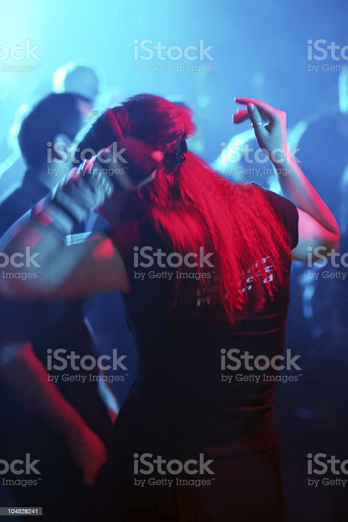 young female dancer in motion royalty-free stock photo
