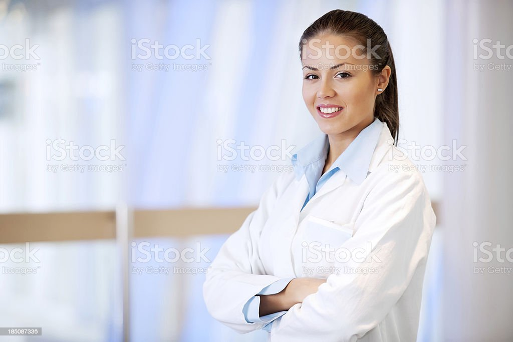 Young female doctor  looking at camera royalty-free stock photo