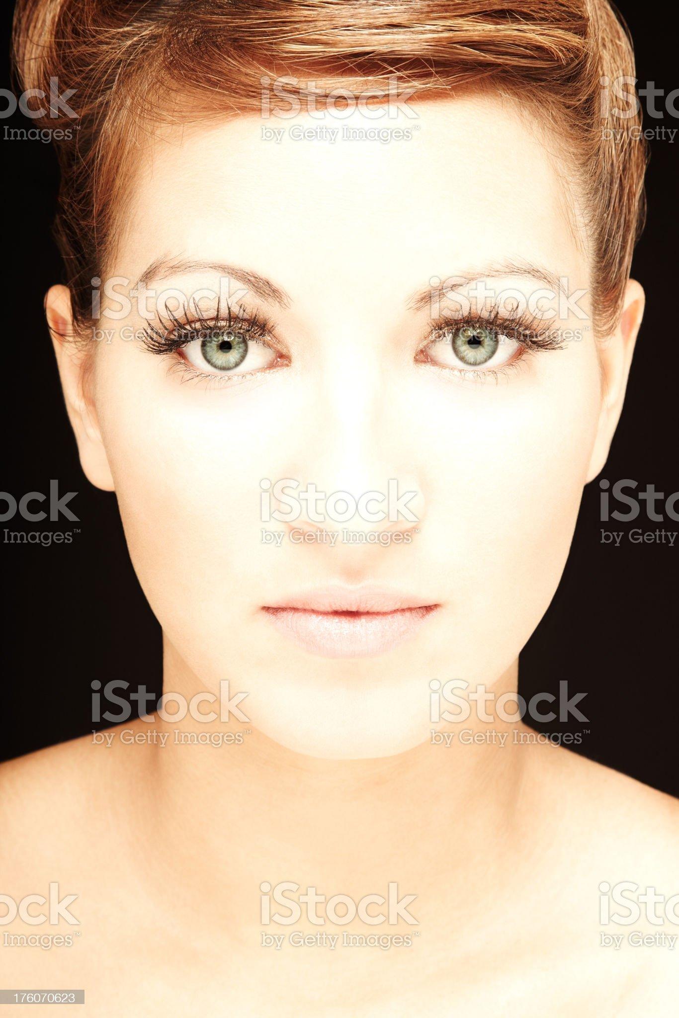Young Female Model's Headshot royalty-free stock photo