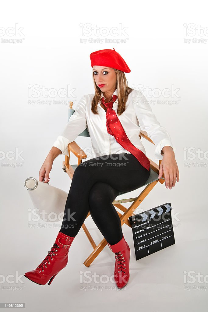Young Female Movie Director royalty-free stock photo