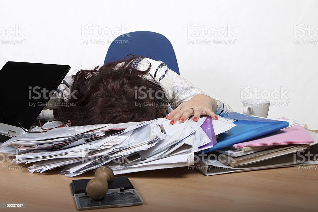 Young female office worker royalty-free stock photo