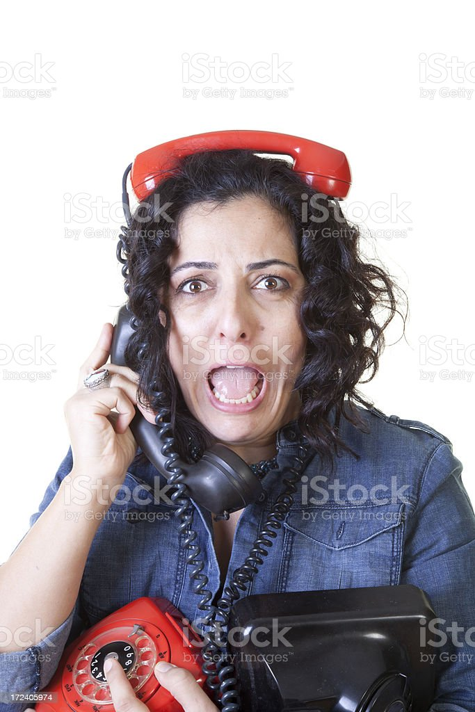 young female on the phone royalty-free stock photo