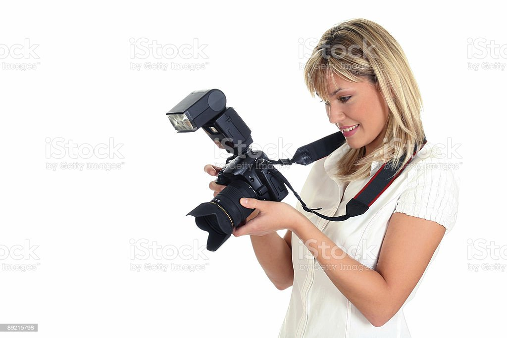 Young female photographer royalty-free stock photo