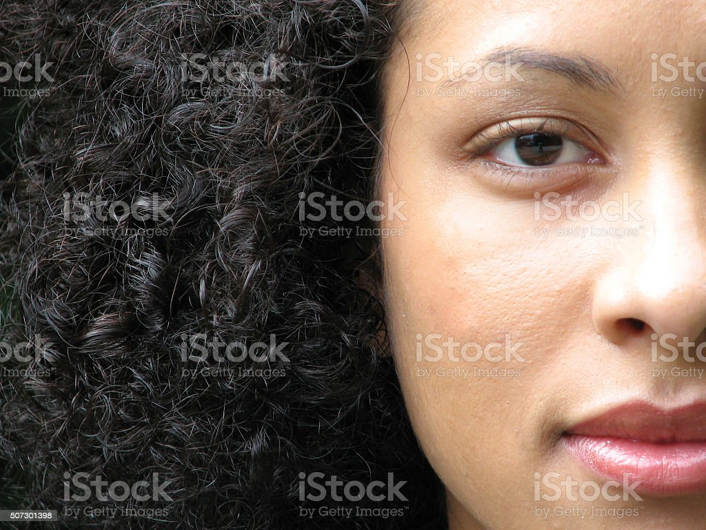 Young female Puerto Rican stock photo