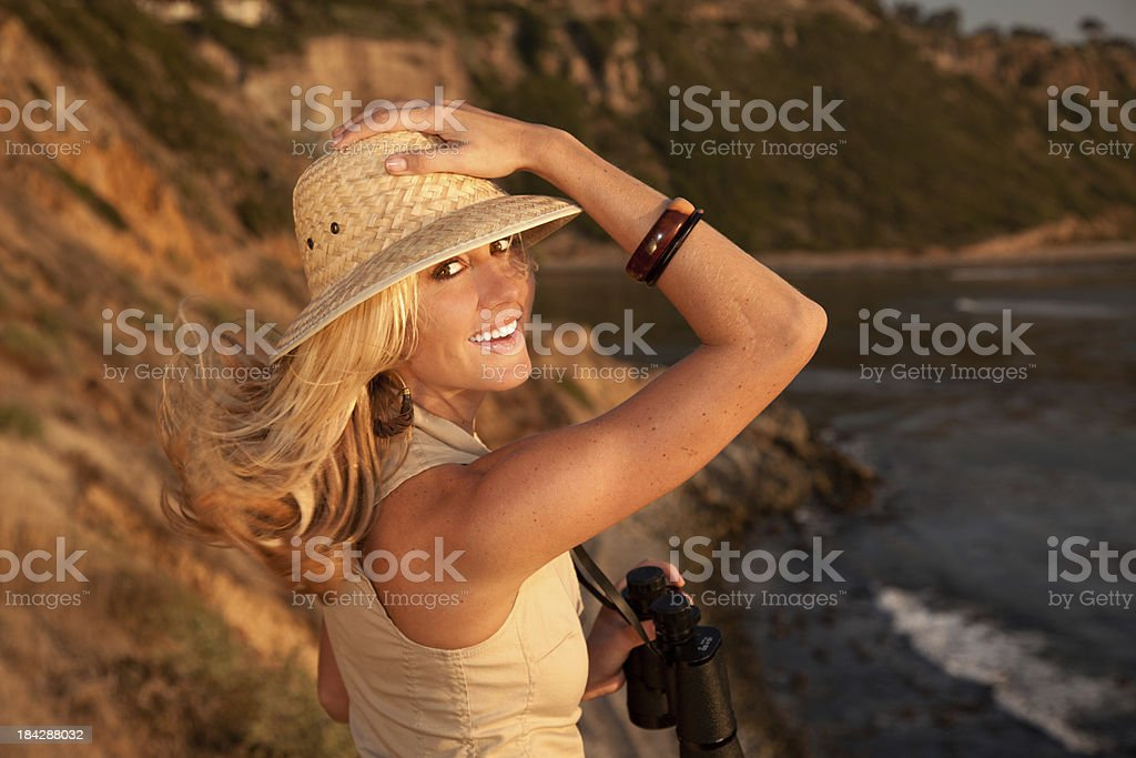 Young  Female Safari Model royalty-free stock photo