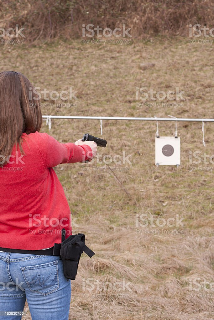 Young Female Shooter stock photo