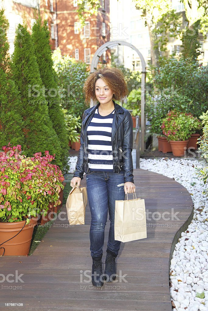 young female shopping royalty-free stock photo