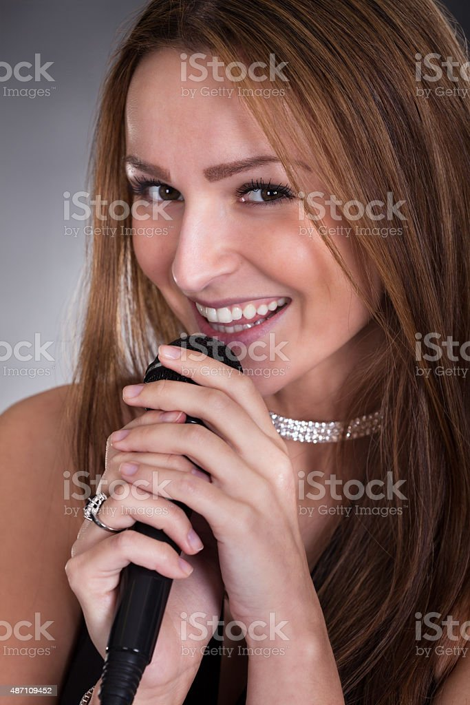 Young Female Singer stock photo