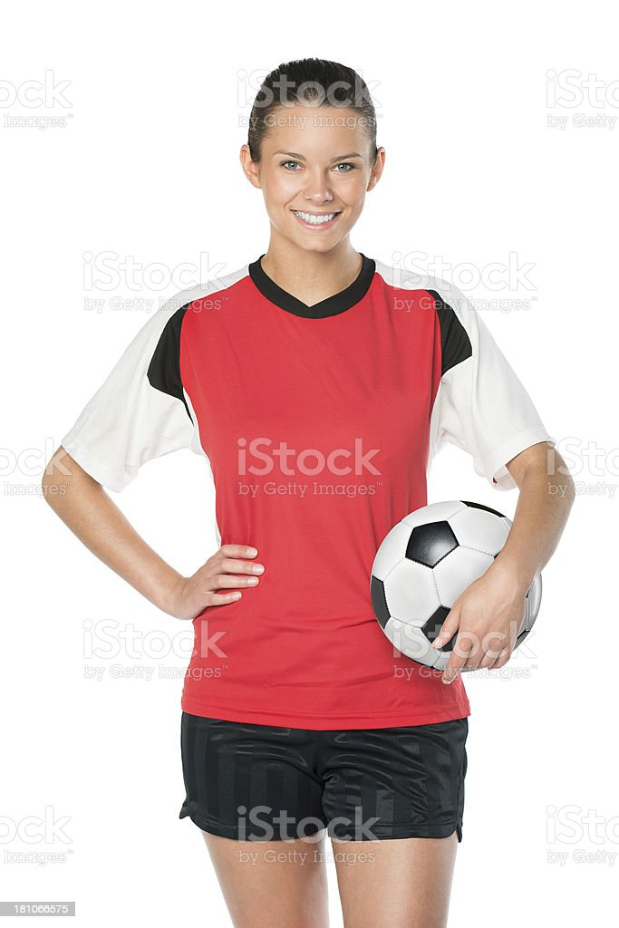 Young Female Soccer Player stock photo