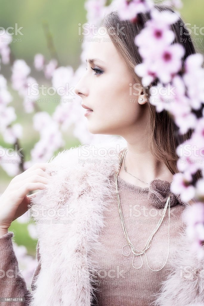 young female spring portrait royalty-free stock photo