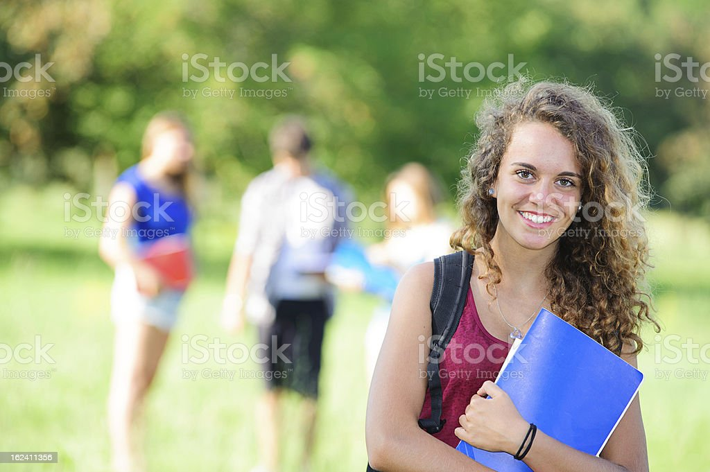 Young Female Student at Park royalty-free stock photo
