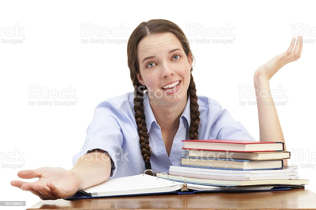 Young female student with braids royalty-free stock photo
