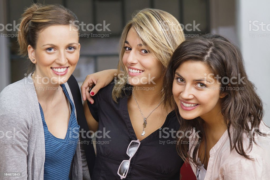 young female students royalty-free stock photo