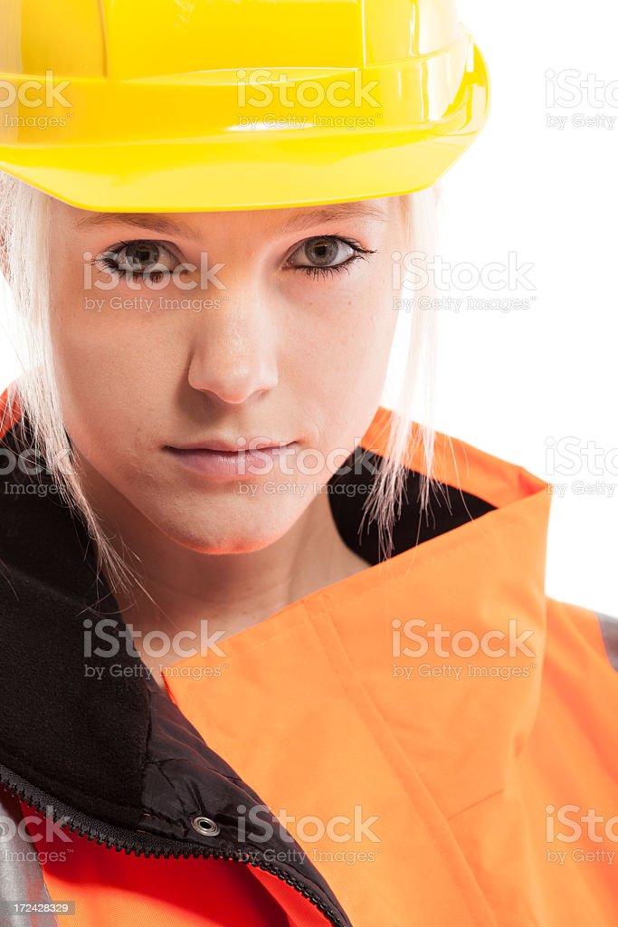 Young female technician stock photo