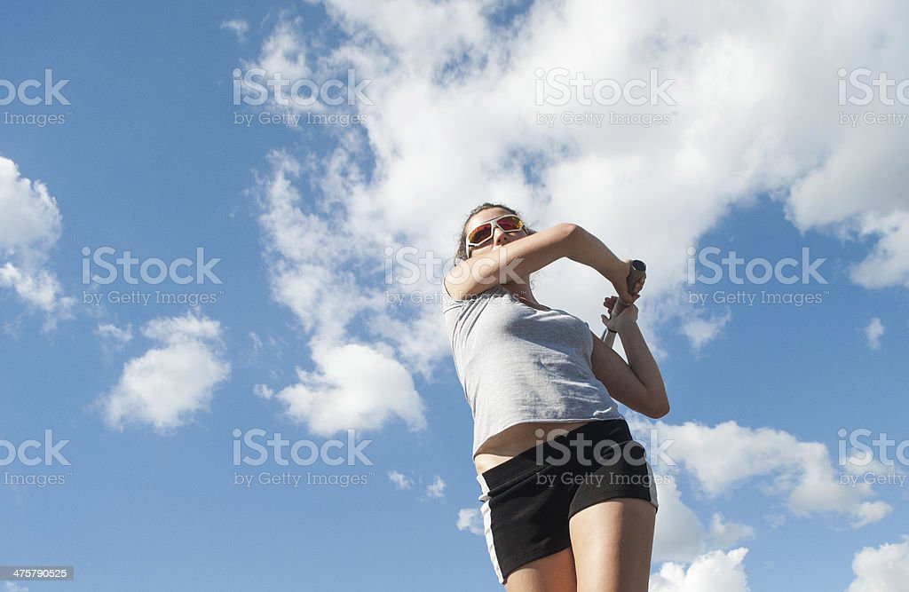 young female tennis player royalty-free stock photo