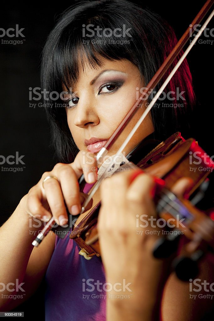young female violinist royalty-free stock photo