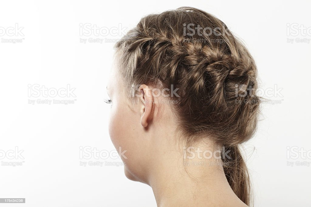 Young female with french braid royalty-free stock photo